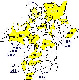 福岡県の地図 福岡県の地形・地盤 : ジオテック株式会社 福岡県の地形・地盤 パンフレットダウン