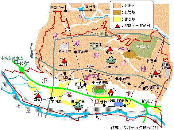 東京都府中市の地盤グローバルナビゲーション府中市の地盤お問い合わせ先ローカルナビゲーション