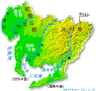 愛知県の地形・地盤 ... : 日本の河川地図 : 日本