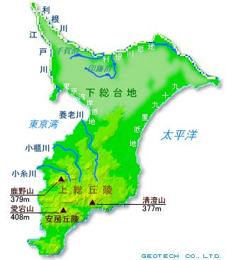 「下総台地 地図」の画像検索結果