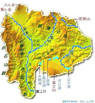 山梨県の地形・地盤 ... : 日本の山地 : 日本